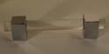 """Modern Cube Appliance Lucite Handles - 3/4"""" D"""