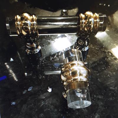 """SignatureThings.com Brass Hardware 3/4"""" D Classic Barrel Ring Lucite Pulls"""