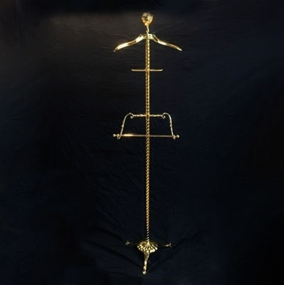 SignatureThings.com Brass Hardware Garment Floor Stand