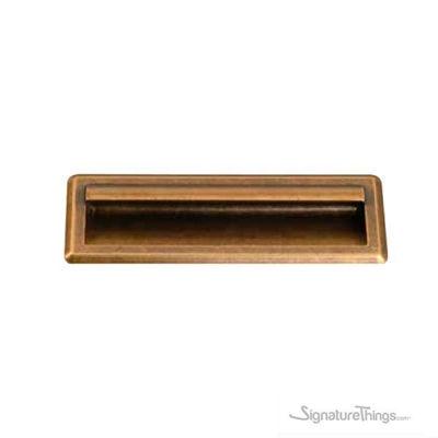 Antique Roma Finish Cabinet Flush Handle