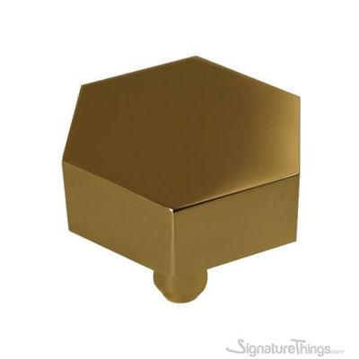 Solid Brass Hexagonal Door Knob