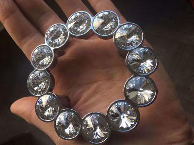 Swarovski Crystal Round Cabinet Knob and Handle