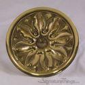 Decorative Brass Medallion Petal Round Cabinet Knob