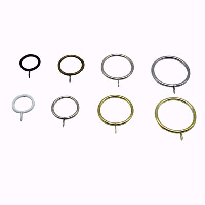 Metal Curtain Rings with Eyelet Set of 20