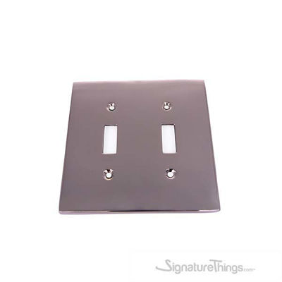 Modern Square Switch Plate Double - Double toggle switch plate