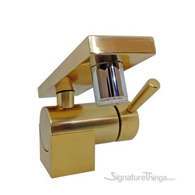 Single Hole Sink Faucet With Rectangular Spout