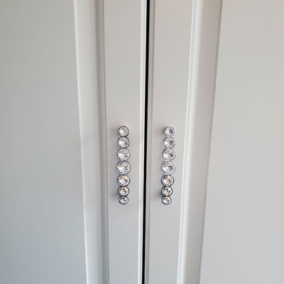SignatureThings.com Brass Hardware Swarovski Crystal Cabinet Knobs and Handles