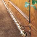 Polished Brass Bar Mount Foot Rail Bracket