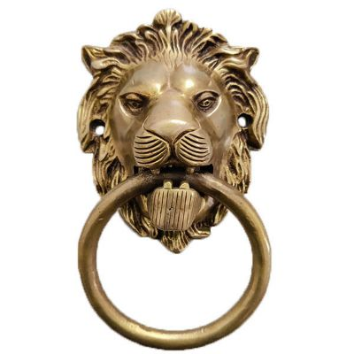 """7"""" Lion Head Door Knocker"""