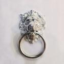 """7"""" Lion Head Door Knocker Polished Chrome"""