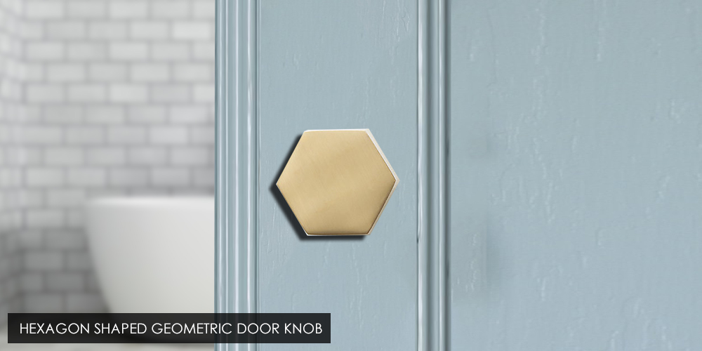 Hexagon Shaped Geometric Door Knob