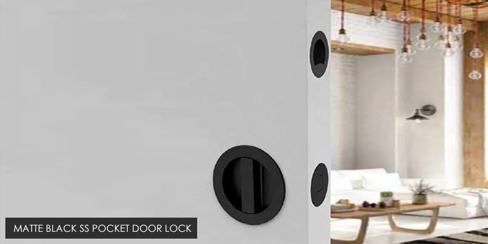 Matte Black SS Pocket Door Lock
