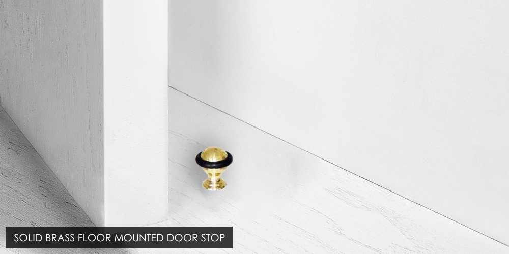 Solid Brass Floor Mounted Door Stop