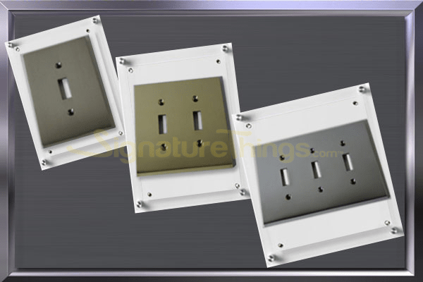 modern switch plates, decorative switch plate which includes single, double and triple toggle switch plates.