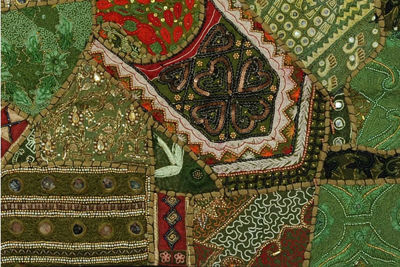 Heavy Beads Wall Hangings Green - Woven Wall Hangings | Wall Hangings For Bedroom | Wall Hangings For Living Room | Heavy Bead Wall Hangings | Beaded Wall Hangings | Wall Décor Ideas | Christmas Gift Ideas | Holiday Gifts Ideas | Unique Gifts Ideas | SignatureThings.com