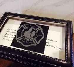 SignatureThings.com Brass Hardware Black Leather Watch Box Gift Set - 10 Slot