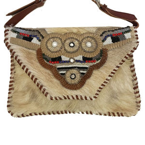 Bull Head Hair on Leather Clutch - handbags for women | handbags | ladies handbags | ladies purse | Crossbody Bag | Shoulder Bags | designer handbags | womens purses | clutch bag | leather bags for women | ladies hand purse | black leather handbags | buy handbags online | shoulder bags for women | womens designer bags | designer handbags sale | womens designer handbags | SignatureThings.com