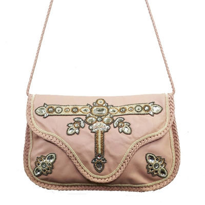 SignatureThings.com Brass Hardware Blossom Bead Crystal Clutch