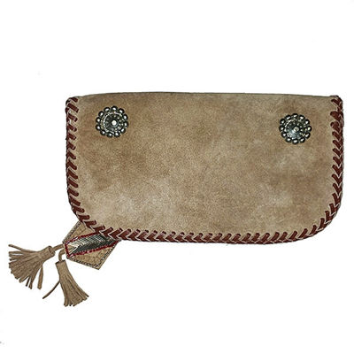 SignatureThings.com Brass Hardware Indian Bead Wallet