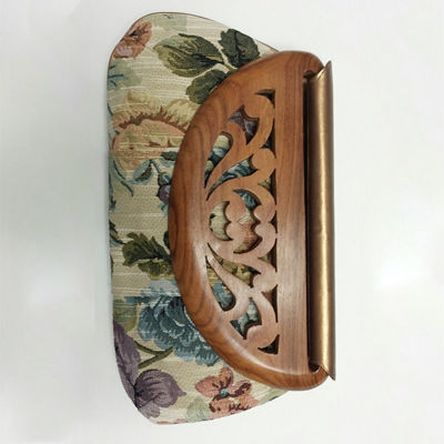 SignatureThings.com Brass Hardware Wood Flap Clutch