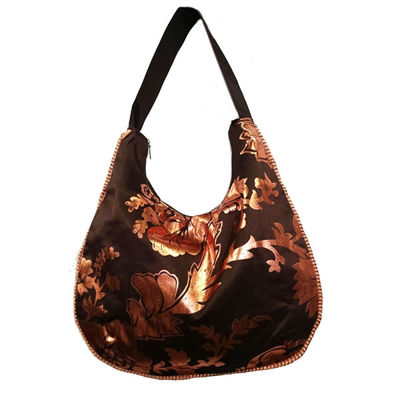SignatureThings.com Brass Hardware Metallic Bloom Hobo