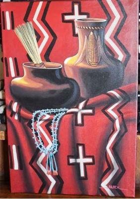 Navajo Still Life - Navajo Crafts | Native American Arts | Native American Crafts For Sale | Navajo Pottery Ornaments | Native American Pottery | Native American Paintings | Navajo Sand Paintings | Authentic Native American Products | SignatureThings.com