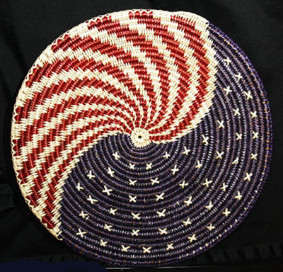 Patriotic Navajo Basket - Navajo Crafts | Native American Arts | Native American Crafts For Sale | Navajo Pottery Ornaments | Native American Pottery | Native American Paintings | Navajo Sand Paintings | Authentic Native American Products | SignatureThings.com