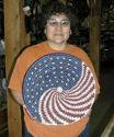 Patriotic Navajo Basket