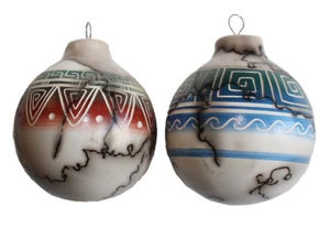 Colorband Horsehair Pottery Ornaments - Navajo Crafts | Native American Arts | Native American Crafts For Sale | Navajo Pottery Ornaments | Native American Pottery | Native American Paintings | Navajo Sand Paintings | Authentic Native American Products | SignatureThings.com