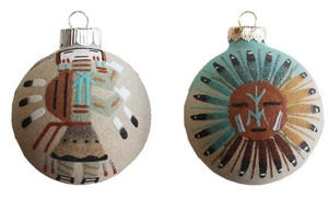 Sandpainted Ornament - Navajo Crafts | Native American Arts | Native American Crafts For Sale | Navajo Pottery Ornaments | Native American Pottery | Native American Paintings | Navajo Sand Paintings | Authentic Native American Products | SignatureThings.com