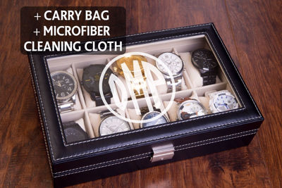 Personalized Leatherette Watch Case - Custom Engraved Men's Valets & Watch Box