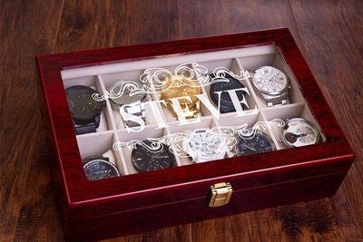 Luxury 10 Slot Men's Watch Case