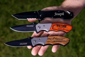 Personalized Pocket Knife - Engraved Knives for Groomsmen - Best Pocket Knife | Unique Pocket Knives | Tactical Pocket Knife | Personalized Pocket Knife | Engraved Pocket Knives For Groomsmen | Engraved Knives For Groomsmen | Best Haunting Knife | Personalized gift Ideas | Engraved Gift Ideas | Christmas Gift Ideas | Holiday Gifts Ideas | SignatureThings.com