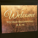 Welcome Sign, Rustic Entrance Sign, Reception Signage, Ceremony Sign