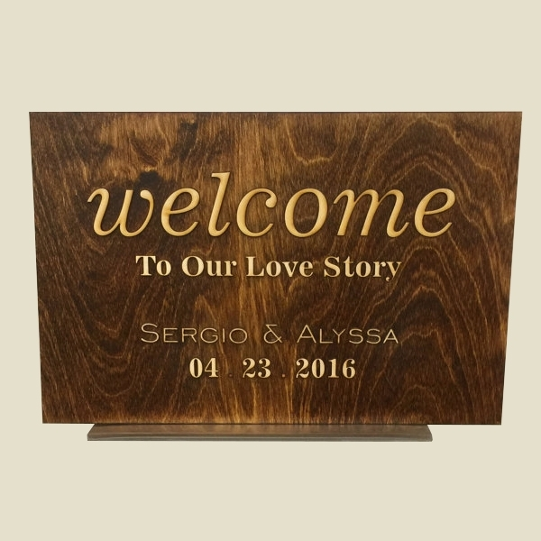 Welcome Sign, Rustic Entrance Sign, Reception Signage