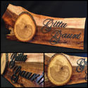SignatureThings.com Brass Hardware Personalized Family Name Sign or Cabin Sign, Rustic Wood