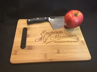 SignatureThings.com Brass Hardware Engraved Cutting Board For Kitchen - Personalized Gifts