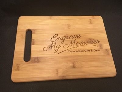 Engraved Cutting Board For Kitchen - Personalized Gifts - Family Established Sign | Business Established Sign | Rustic Wood Name Sign | Last Name Signs | Wall Decor Name Sign | Wooden Cabin Sign | Ceremony Sign | Personalized Welcome Sign | Keepsake Box | Wooden Wedding Card Box | Rustic Wedding Card Box | Personalized gift Ideas | Engraved Gift Ideas | Christmas Gift Ideas | Holiday Gifts Ideas | SignatureThings.com