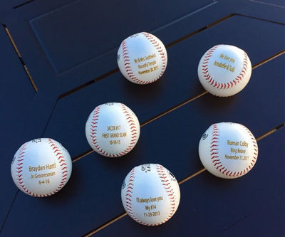 SignatureThings.com Brass Hardware Engraved Baseball - Unique Gifts for Baseball Fans, Players