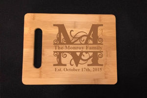 Personalized Cutting Board - Wooden Cheese Board, Engraved Gifts - Family Established Sign | Business Established Sign | Rustic Wood Name Sign | Last Name Signs | Wall Decor Name Sign | Wooden Cabin Sign | Ceremony Sign | Personalized Welcome Sign | Keepsake Box | Wooden Wedding Card Box | Rustic Wedding Card Box | Personalized gift Ideas | Engraved Gift Ideas | Christmas Gift Ideas | Holiday Gifts Ideas | SignatureThings.com