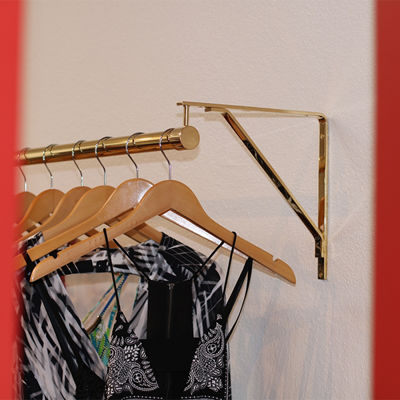 SignatureThings.com Brass Hardware Shelf Bracket with Standard Bracket Hanger
