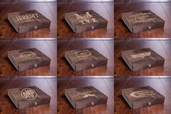 Personalized Cigar Box Rustic Wood Best Father S Day