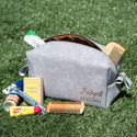 SignatureThings.com Brass Hardware Personalized Toiletry Bag - Dopp Kit, Monogrammed Cosmetic Bag