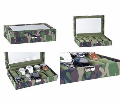 Military Engraved Watch Box - 10 Slot,  Personalized Watch Case, Watch Organizers