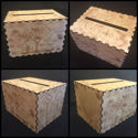 Rustic Memory Wood Card Box - Personalized Wedding Card Box