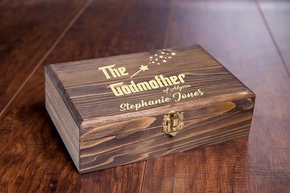 The Godfather Keepsake Gift Box Personalized Baptism Gifts