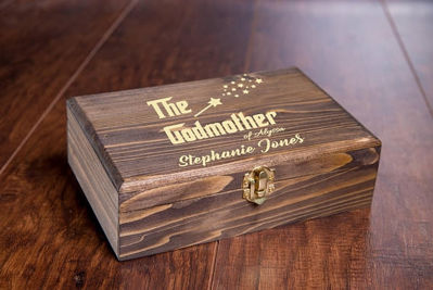The Godfather Keepsake Gift Box - Personalized Baptism Gifts - Personalized Gift Box | Personalized gift Ideas | Engraved Gift Boxes | Christmas Gift Ideas | Holiday Gifts Ideas | Personalized Wooden Gift Box | Keepsake Gifts Box | Memory Box | Personalized Watch Box | Watch Box | Sunglass Storage Case | SignatureThings.com