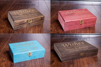 Rustic Advice Gift Box - Guest Book Alternatives, Personalized Gifts Box, Wedding Advice Box