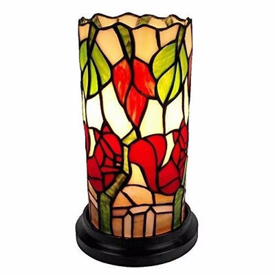 10 Inches Tall Tiffany Style Floral Mini Table Lamp - Tiffany Style Table Lamps | Stained Glass Table Lamps | Tiffany Table Lamps | Decorative Table Lamps | tiffany table lamps | Stained Glass Table Lamps | table lamps for living room | Reading Table Lamps | crystal table lamps | tiffany style lamp shades | SignatureThings.com