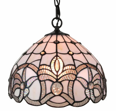 12 Inches Wide Tiffany Style White Ceiling Fixture 12 Inches Wide - Tiffany Style Ceiling Lamps | Stained Glass Ceiling Lamps | tiffany ceiling lamps | ceiling lights | living room ceiling lights | bedroom ceiling lights lamps | antique tiffany chandelier | Decorative Ceiling Lamps | SignatureThings.com